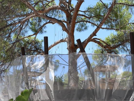 Malla de alambre para los parapetos