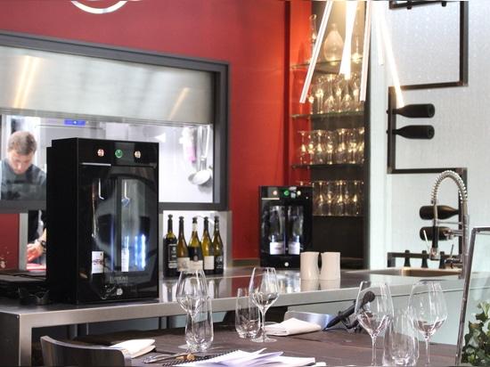 Descubra el bar de vinos 2,0 - vino por la solución de cristal