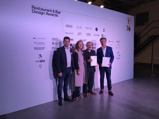 Ceremonia de premios del diseño del restaurante y de la barra