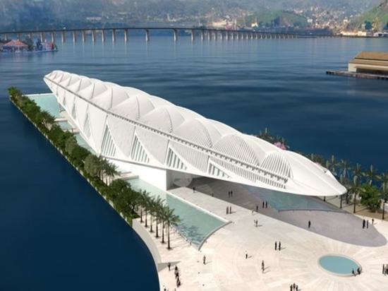 El museo flotante de Río de Santiago Calatrava. Cortesía del arquitecto.