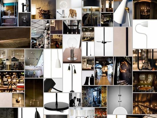 Un collage de los productos de la iluminación de RUBN.