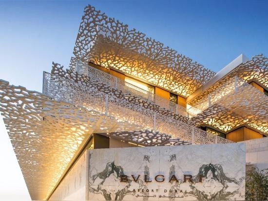 centro turístico y residencias de BVLGARI del proyecto del liniLED®