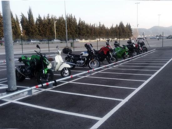 Paradas de la rueda para parquear