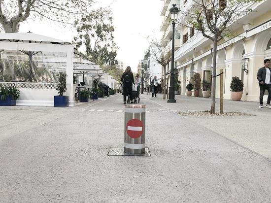 Bolardo de la seguridad instalado en Ibiza