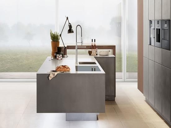 Solución de la cocina de Zeyko. La compañía Londres-basada trabaja con madera, metal y hormigón.