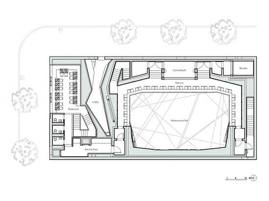 Plan de piso nacional del serrín. Cortesía del arquitecto