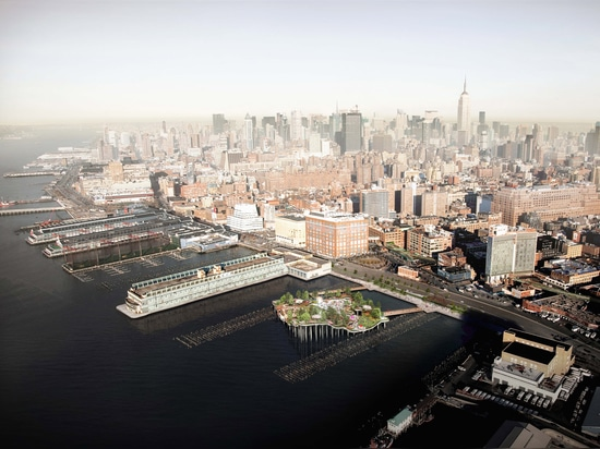 El embarcadero 55 de Heatherwick para comenzar la construcción sobre Hudson River de Nueva York