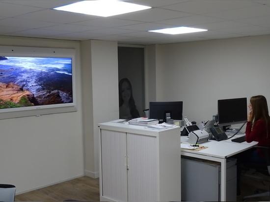 Instalación en una oficina del banco
