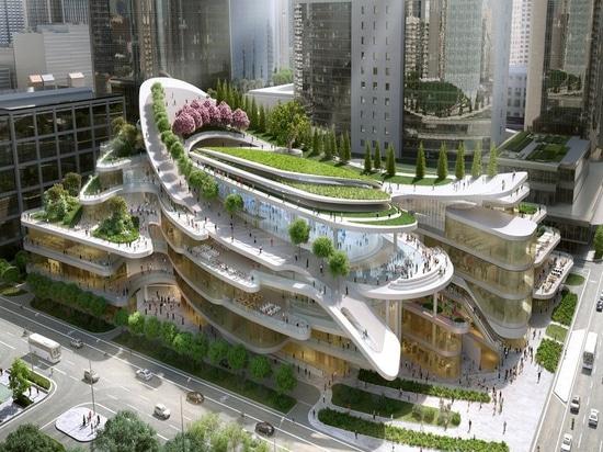 Centro comercial de Pekín diseñado por Andrew Bromberg. Cortesía de Andrew Bromberg en Aedas