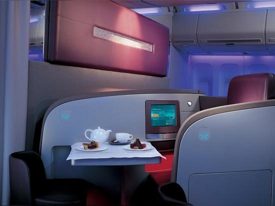 Asiento de la clase alta de Virgin Atlantic por PearsonLloyd