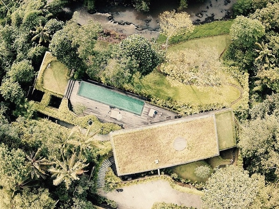 El chalet del camaleón de WOMhouse 'desaparece' dentro de sus alrededores del balinese