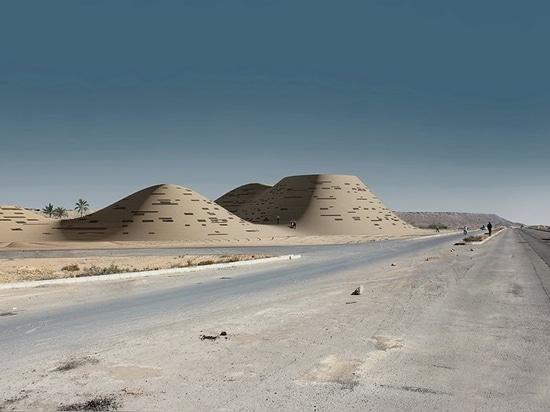 complejo del hajizadeh y de los socios en las fusiones de Irán con el ambiente que se asemeja a las dunas de arena