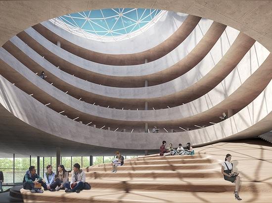 Powerhouse Company y los arquitectos de Benthem Crouwel revelan la oferta para el atleta Village de los Juegos Asiáticos