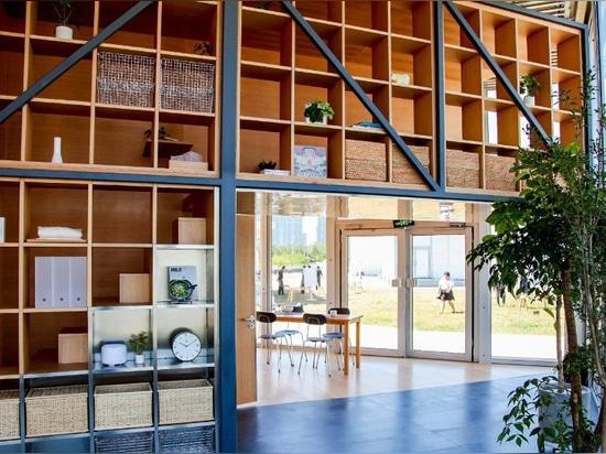 va hasegawa diseña el espacio vital prototípico para los empleados de MUJI
