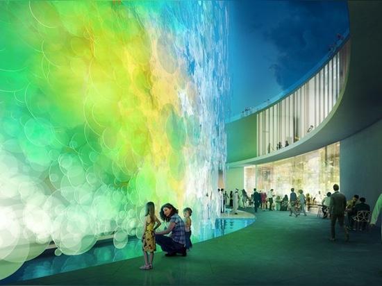 el cocksedge de Paul diseña el pabellón vivo 'imposible' de la acuarela para la expo Dubai 2020