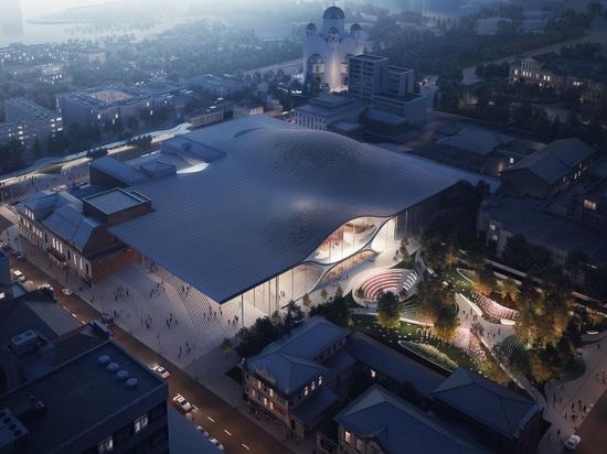 arquitectos del hadid del zaha para construir la sala de conciertos filarmónica soundwave-inspirada en Rusia
