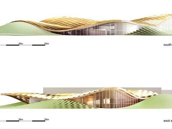 los sistemas de la arquitectura abierta revelan los planes para el pabellón por energía solar de la barrilla en Parma