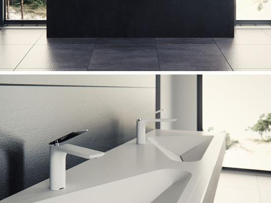 El cuarto de baño Sink By Le Projet Was de Monolit inspirado por las formas diarias encontradas en un ambiente urbano