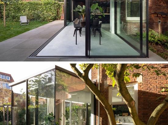 Una extensión contemporánea para esto casa de los años 20 en los Países Bajos