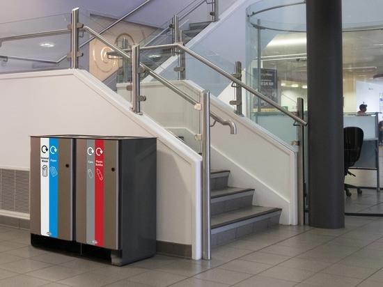 Papelera de reciclaje del patio de Electra 170 | Glasdon Reino Unido