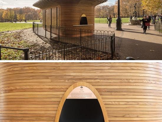 Un nuevo quiosco escultural del parque se ha abierto en Londres