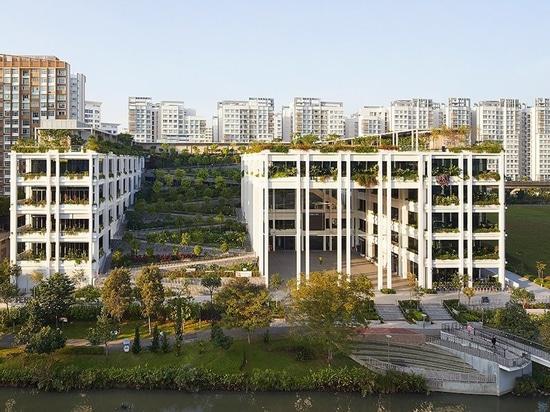 serie y multiplicar a arquitectos para terminar 'terrazas bucólicas del oasis' en Singapur