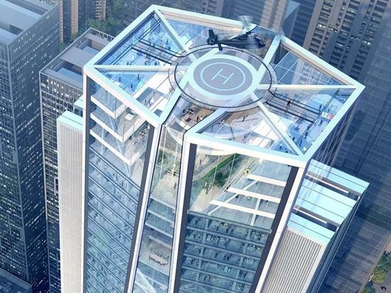 adoptivo + rascacielos de los diseños de los socios para el banco de comerciantes de China en Shenzhen