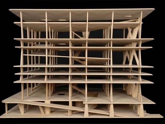 Colección de los regalos de Herzog & de Meuron de bosquejos y de modelos arquitectónicos a MoMA