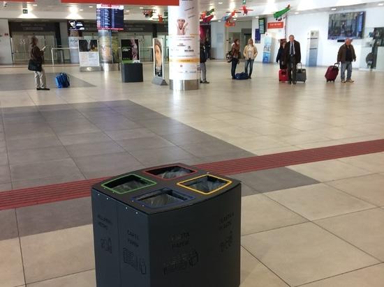 Compartimiento de Windows en el aeropuerto Falcone y Borsellino