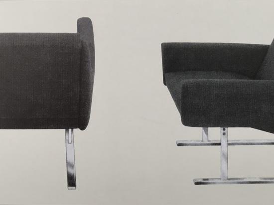 La silla Flexor de Georg Leowald, 1954. El excepcional confort se debió al resorte de torsión hecho de varillas de fibra de vidrio y colocado debajo del asiento. Un modelo que causó sensación en la...