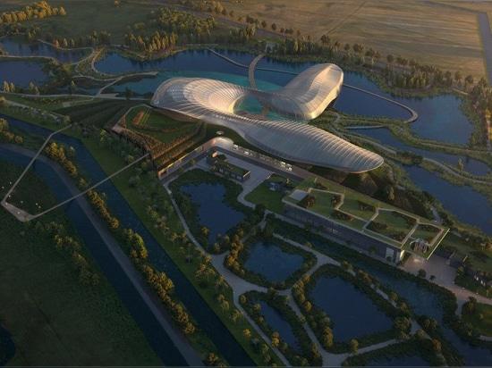 reserva de naturaleza de los planes de los arquitectos del ennead con un acuario público en China