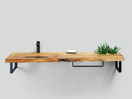 Lavabo de madera CONE Holzwaschtisch CONE