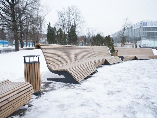 Área en el pabellón 57 de VDNKh, Moscú