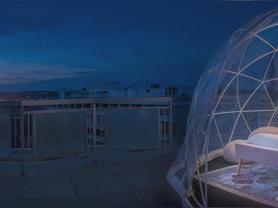 Ahora usted puede glamp en una cúpula de techo en el Hotel Watergate