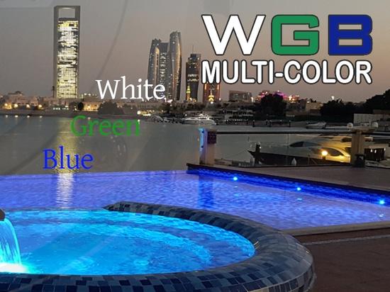 La luz subacuática METEOR también en WGB multicolor.
