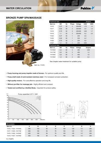 Bronze pump spa/massage