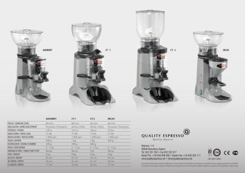 Molinillo Dosificador Molino de Café Espresso