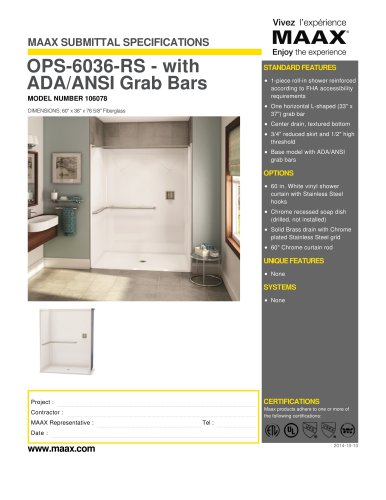 OPS-6036-RS - with ADA/ANSI Grab Bars