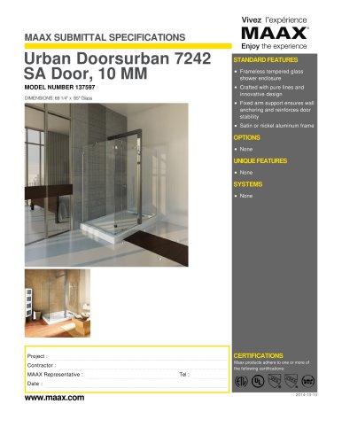 Urban Doorsurban 7242 SA Door, 10 MM