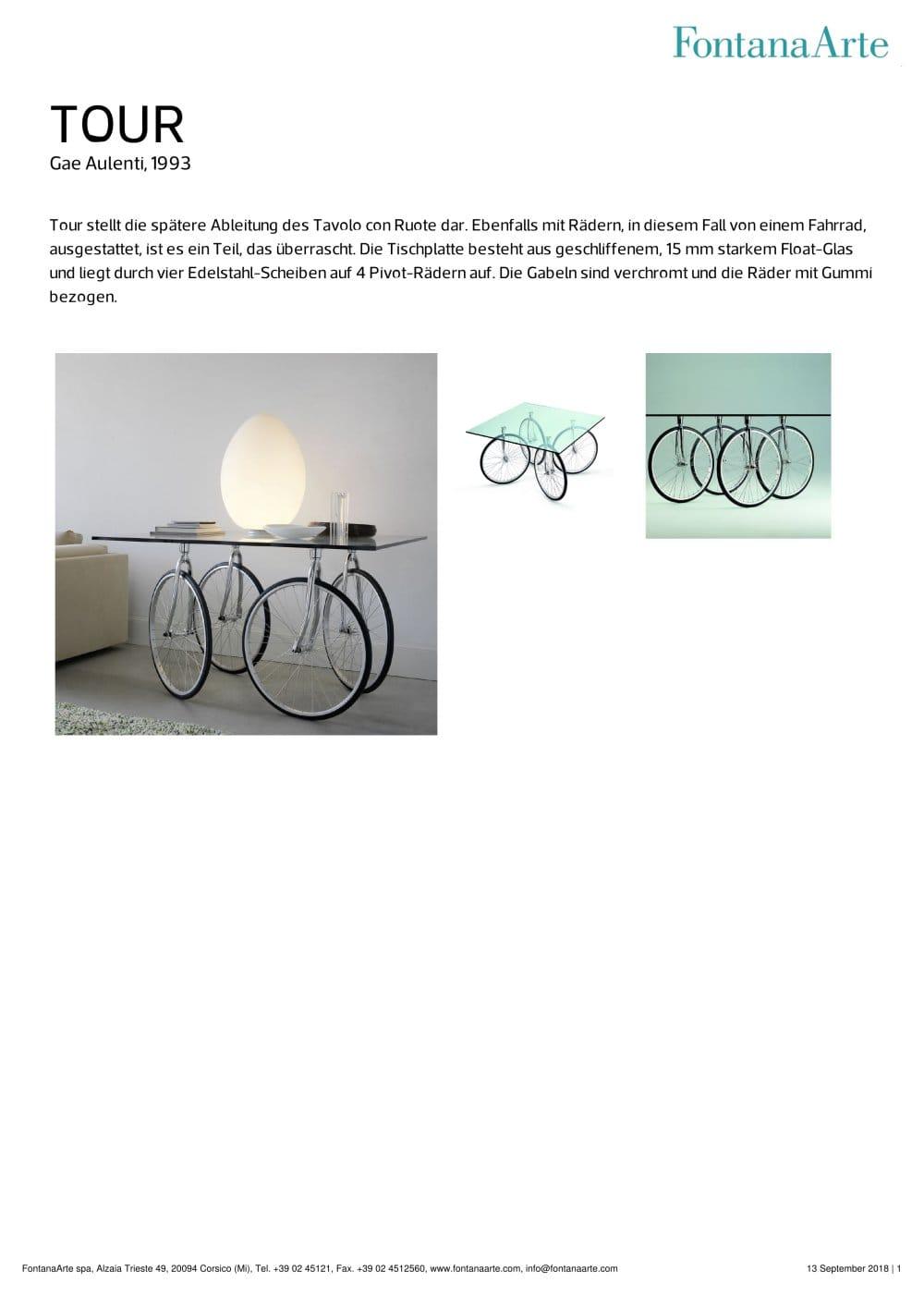 TOUR - FontanaArte - Catálogo PDF | Documentación | Brochure