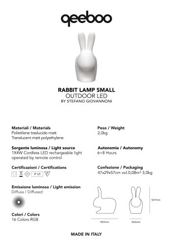 RABBIT LAMP SMALL
