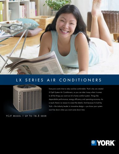TCJF LX Series Air Conditioners with MicroChannel Technology