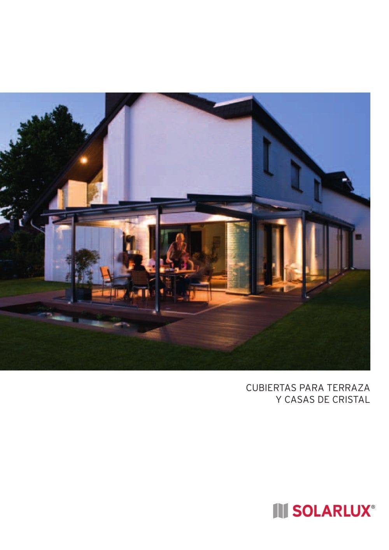 Cubiertas para terraza y casas de cristal SOLARLUX Catlogo PDF
