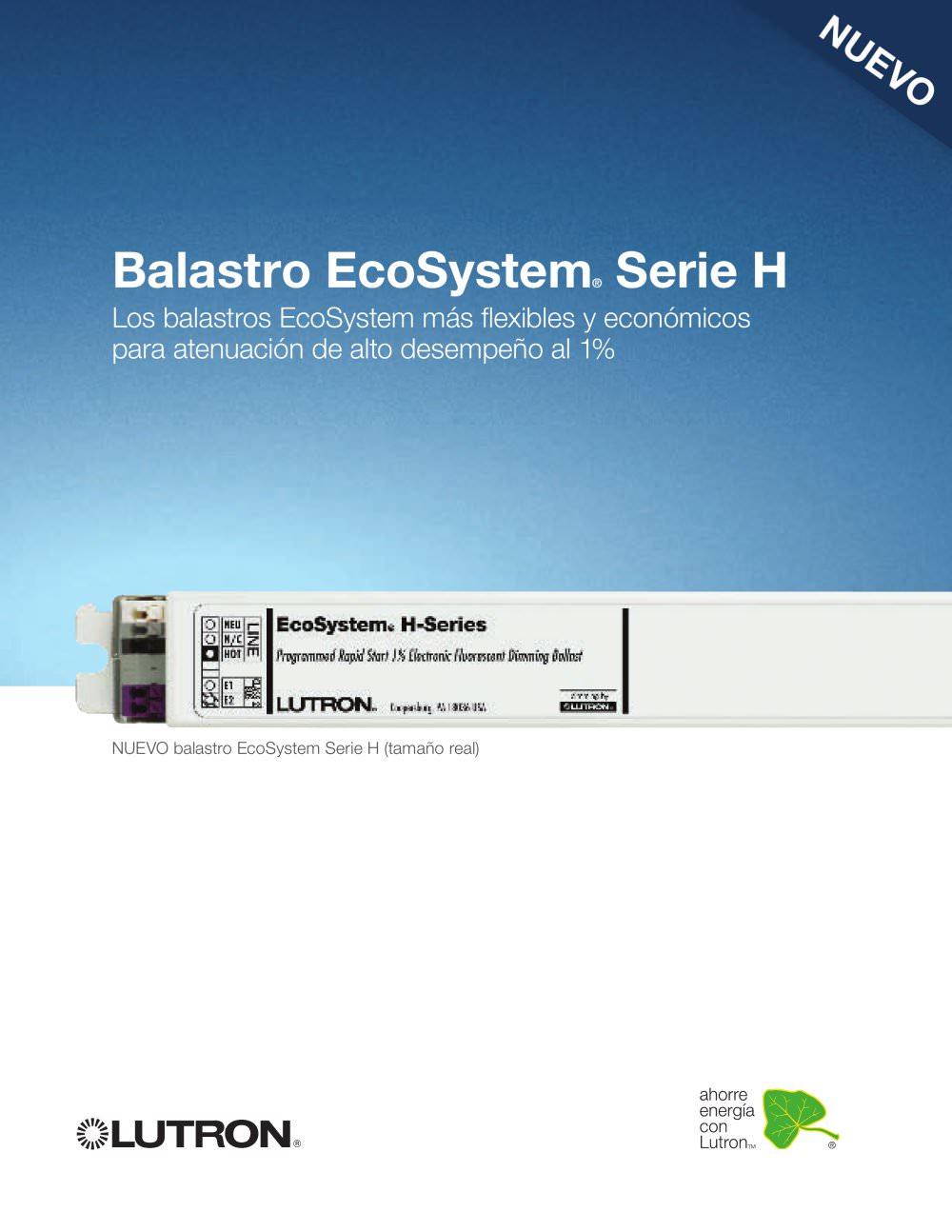 EcoSystem® H-Series Ballast - LUTRON ELECTRONICS - Catálogo PDF ...