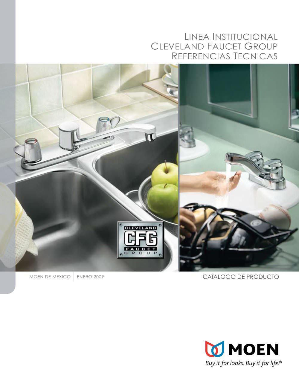 Linea Institucional Catalogo de Producto - 2009 - Moen - Catálogo ...