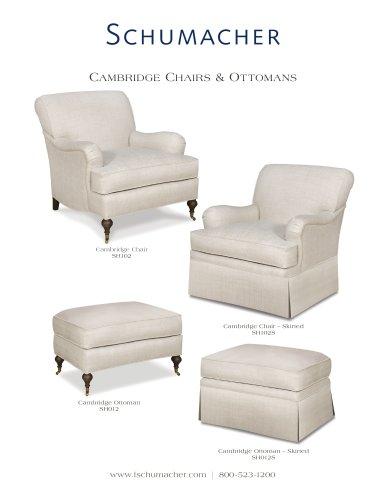 Cambridge chairs & ottomans