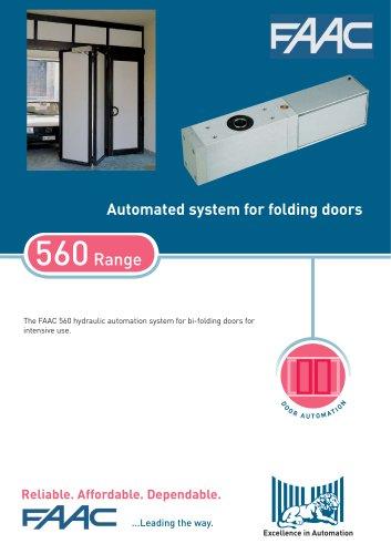 DOOR OPERATORS:560 bi-folding door operator
