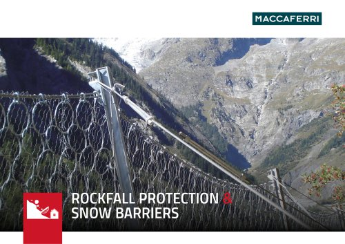 Rockfall Protection and Snow Barriers Brochure