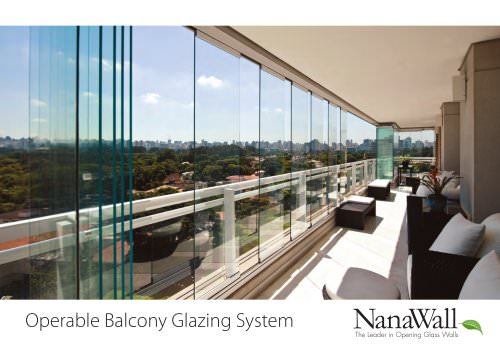 Operable Balcony Glazing System