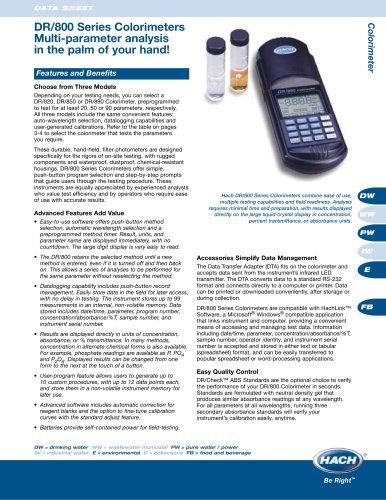 DR/800 Series Colorimeter Brochure